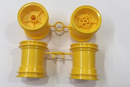 Tamiya Wheels - Yellow (Lunchbox/Pumpkin) - 9335036