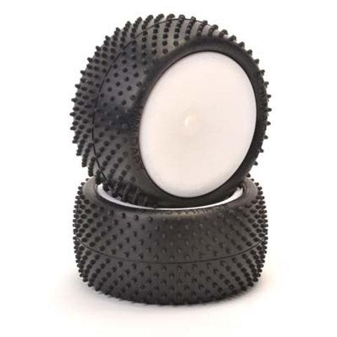 U6835 - Mini Dart 1/10-Rear-Pre-Glued-Yellow (pr)