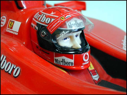 RCP006 Chevon Realistic F1 Driver Helmet Kit