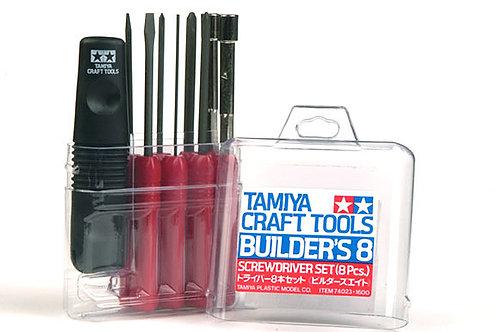 "Tamiya Builders 8"" Screwdriver Tool Set - 74023"