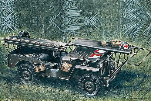 Italeri 1/35 D Day 1/4 Ton 4x4 Ambulance Jeep - 326