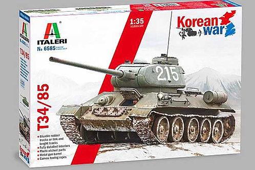 ITALERI 1:35 T-34/85 TANK - KOREAN WAR - 6585