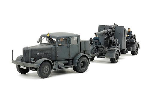 Tamiya 1/48 German Heavy Tractor SS-100 & 88mm Gun Flak37 Set - 37027