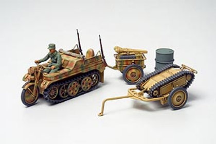 Tamiya 1/48 Kettenkraftrad Wth Infantry Cart & Goliath Demolition Vehicle- 32502