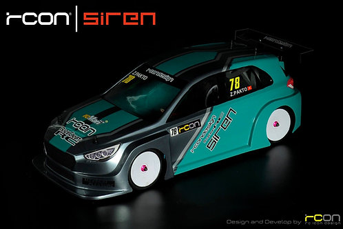 Rcon Siren Clear Unpainted Lexan Body For 1:10 FWD / Frontie