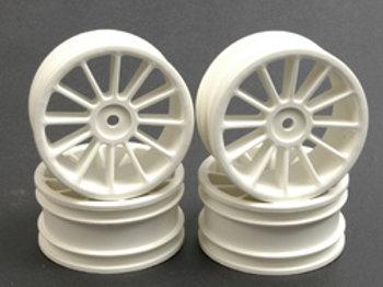 Wheel; 12 spoke 25mm - White (Pk4)