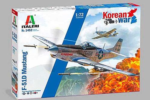 ITALERI 1:72 NORTH AMERICAN F-51D MUSTANG - KOREAN WAR - 1452