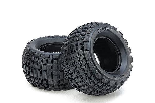 Tamiya ST Block Rear Bubble Tires (Soft/1pr-WR02CB) - 54954