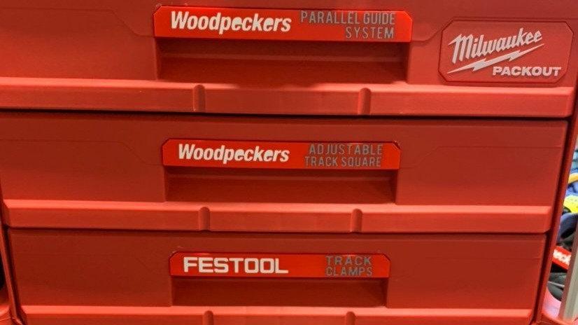 Custom Packout Drawer Handles