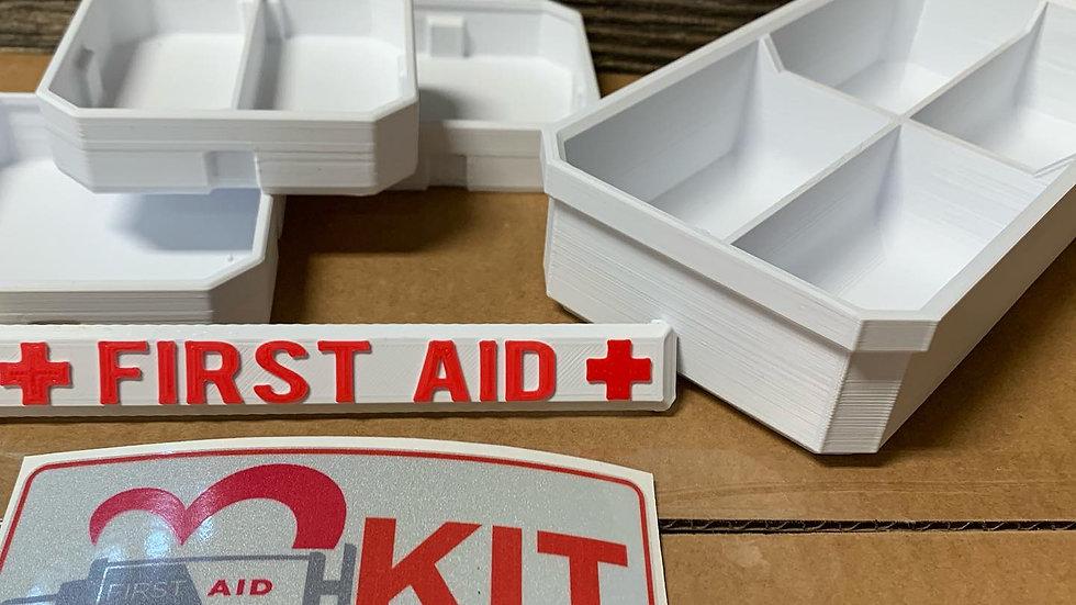 Low Profile Half Width DIY First Aid Kit