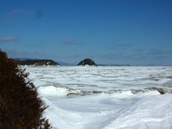 Île ronde en hiver