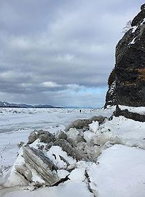 Grande jettée en hiver à l'Isle aux Grues