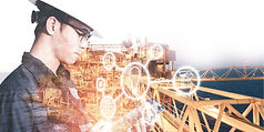 double-exposure-of-engineer-or-technicia
