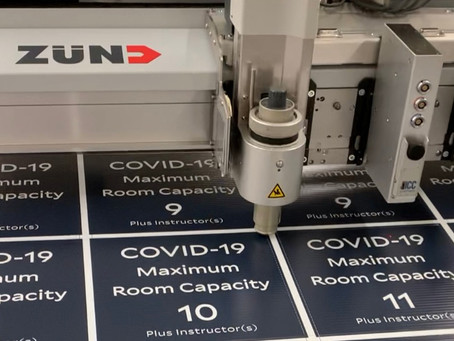 Our Zünd Digital Cutter in Action