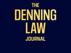Latest Issue of Denning Law Journal Published