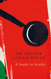 A study in Scarlet by Sir Arthur Conan Doyle  When Dr. John Watson takes lodgings in Baker Street with the quirky consulting detective Sherlock Holmes, they are both quickly drawn into a mysterious case that has left Scotland Yard baffled. A man is found dead in a south London house, his face a mask of horror, but there are no signs of violence. Meanwhile a mysterious word has been written in blood on the wall and through Sherlock Holmes' observations and deductions, they uncover a tragic tale of love and revenge.