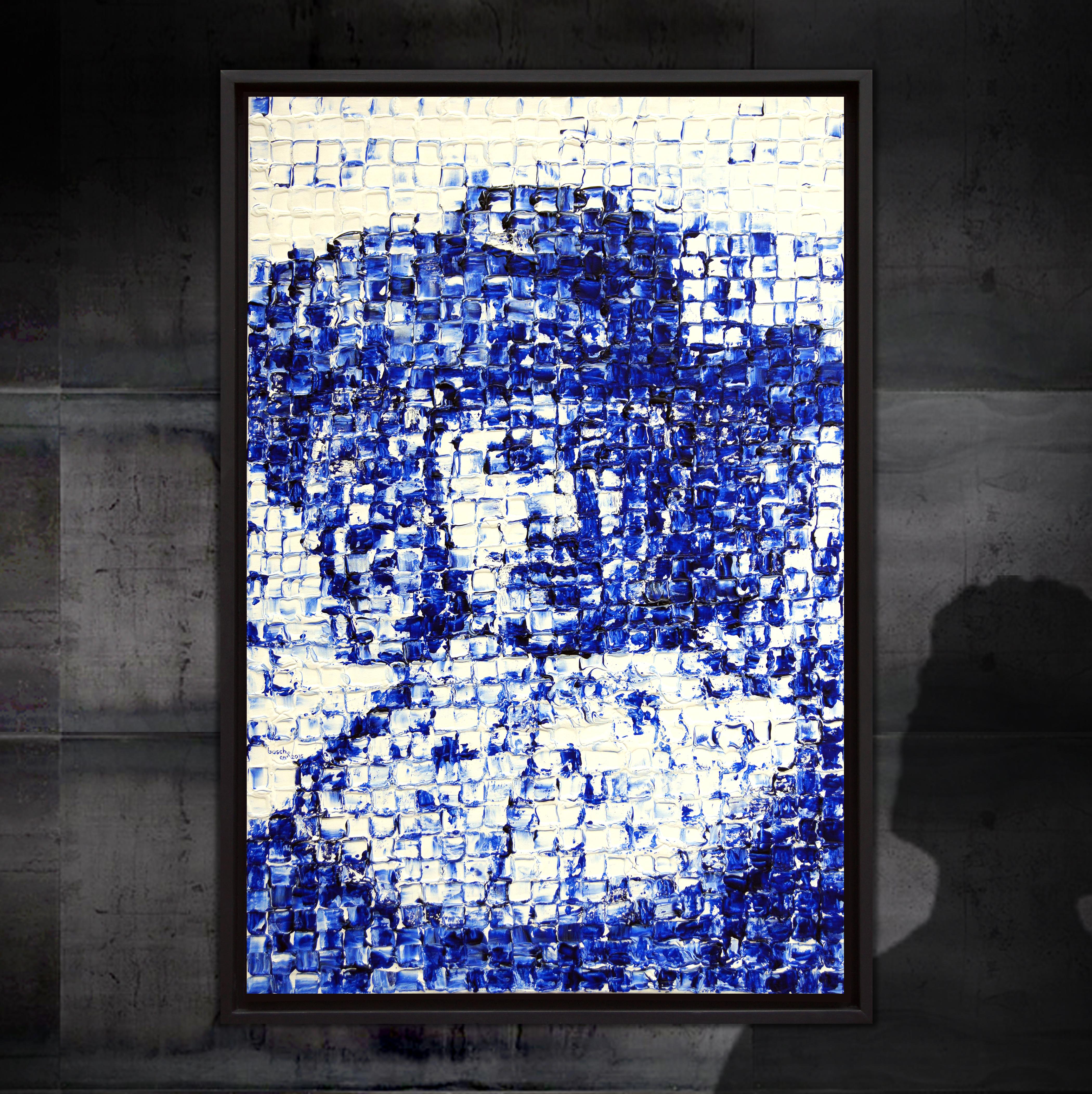 Portret van een man met hoed en grote kraag