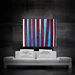 redbluewhite stripes 120x100cm
