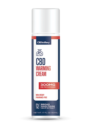 CBDistillery 300mg Broad Spectrum CBD Warming Cream 0% THC