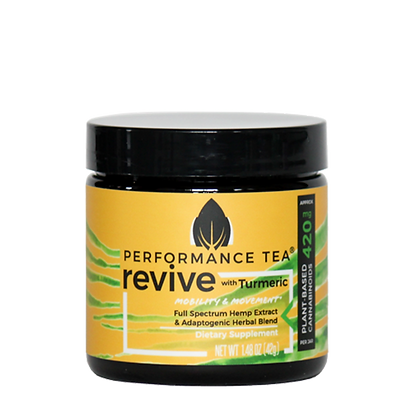 Performance Tea Revive Organic CBD Blend - jar