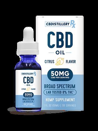 CBDistillery Broad Spectrum CBD Oil Tincture – 1500mg – 30ml