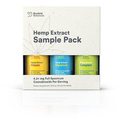 Bluebird Botanicals Hemp Sample Pack