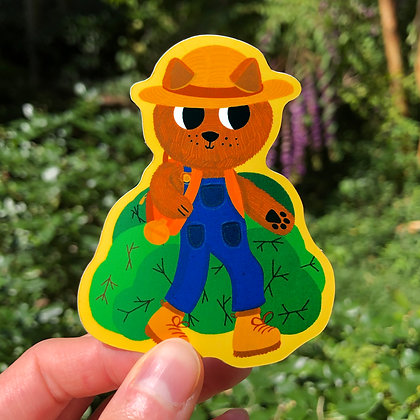 Let's Go for a Hike Sticker