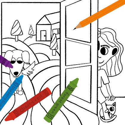 Adventure Awaits Coloring Page