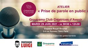 Professeur Luigi s'associe au Groupama Club Créatrices d'Avenir !
