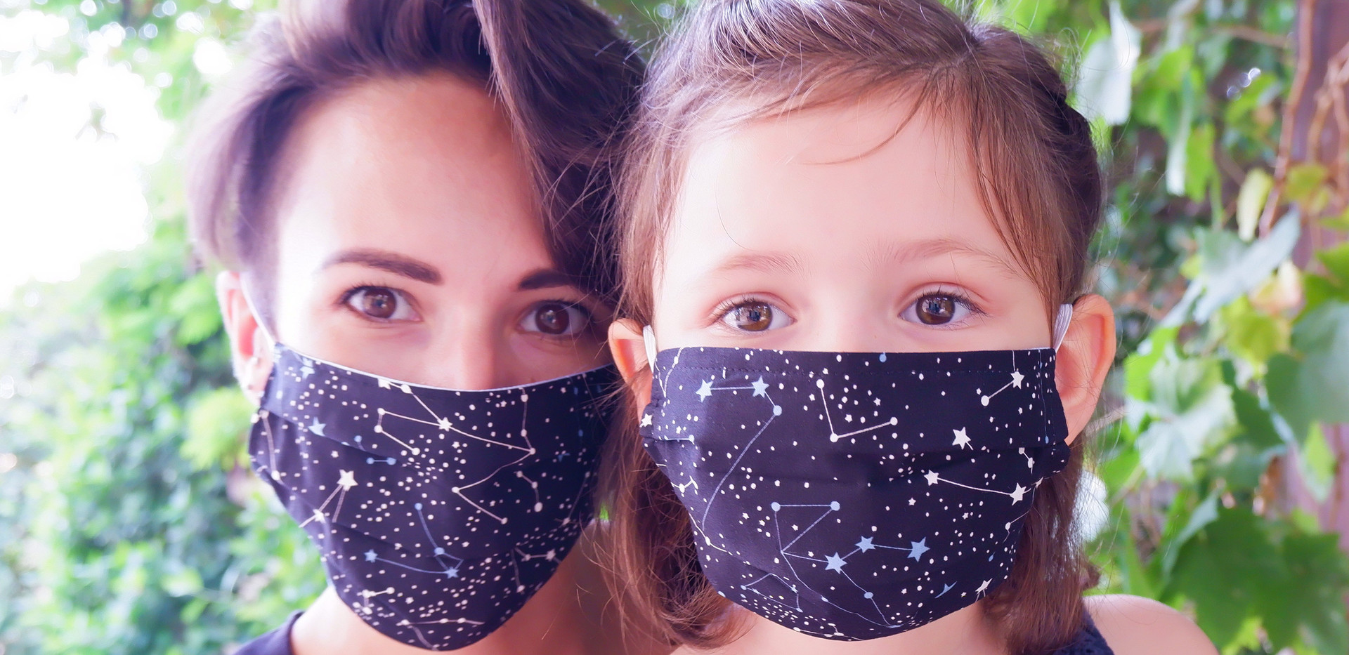 blue galaxy fabric mask