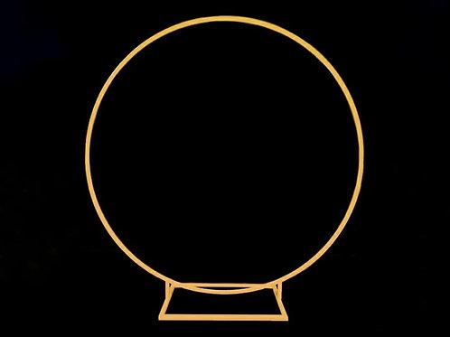 Gold Round Hoop