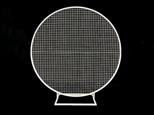 White Round Mesh Screen