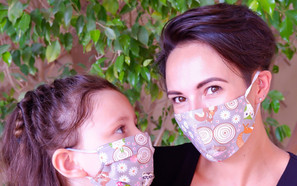 Woodland Pleated Fabric Mask