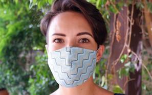 Zig zag Fabric Masks