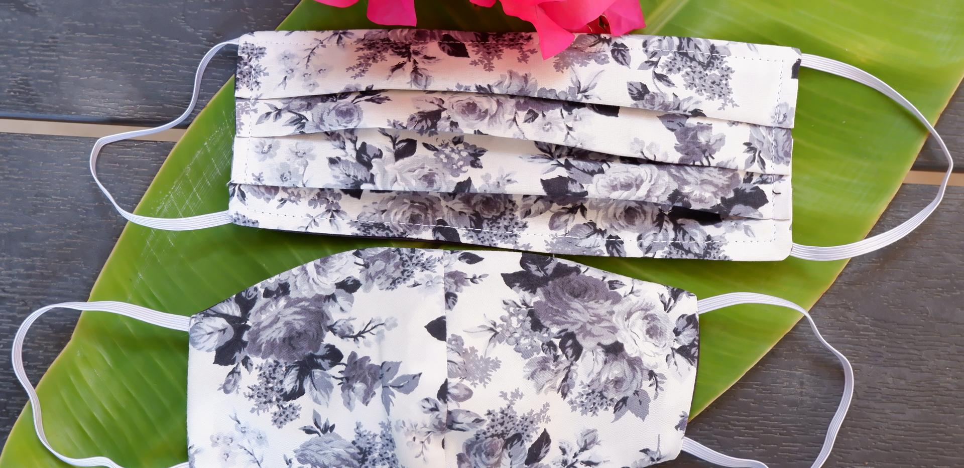 Grey Flower Fabric Fashion Cover