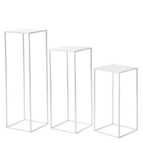 Metal Plinth -White