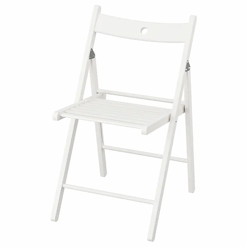 Adult white wooden chairs
