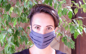 Grey Fabric Mask