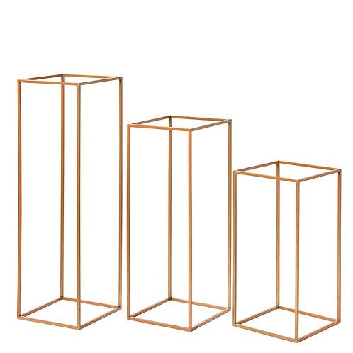Metal Plinth - Gold