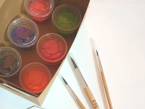 Canvas Painting Craft Box