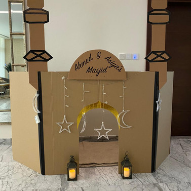 Mini Masjid Cardboard Mosque