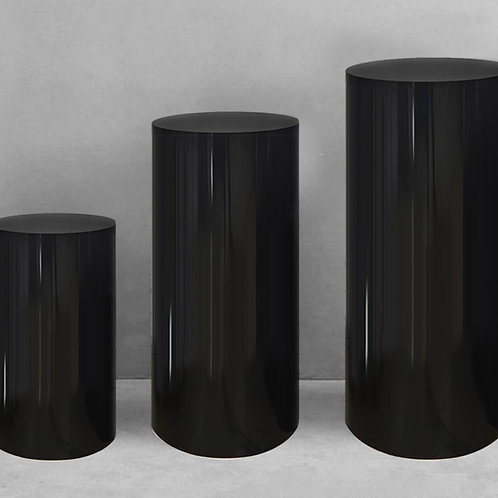 Round Plinth -Black