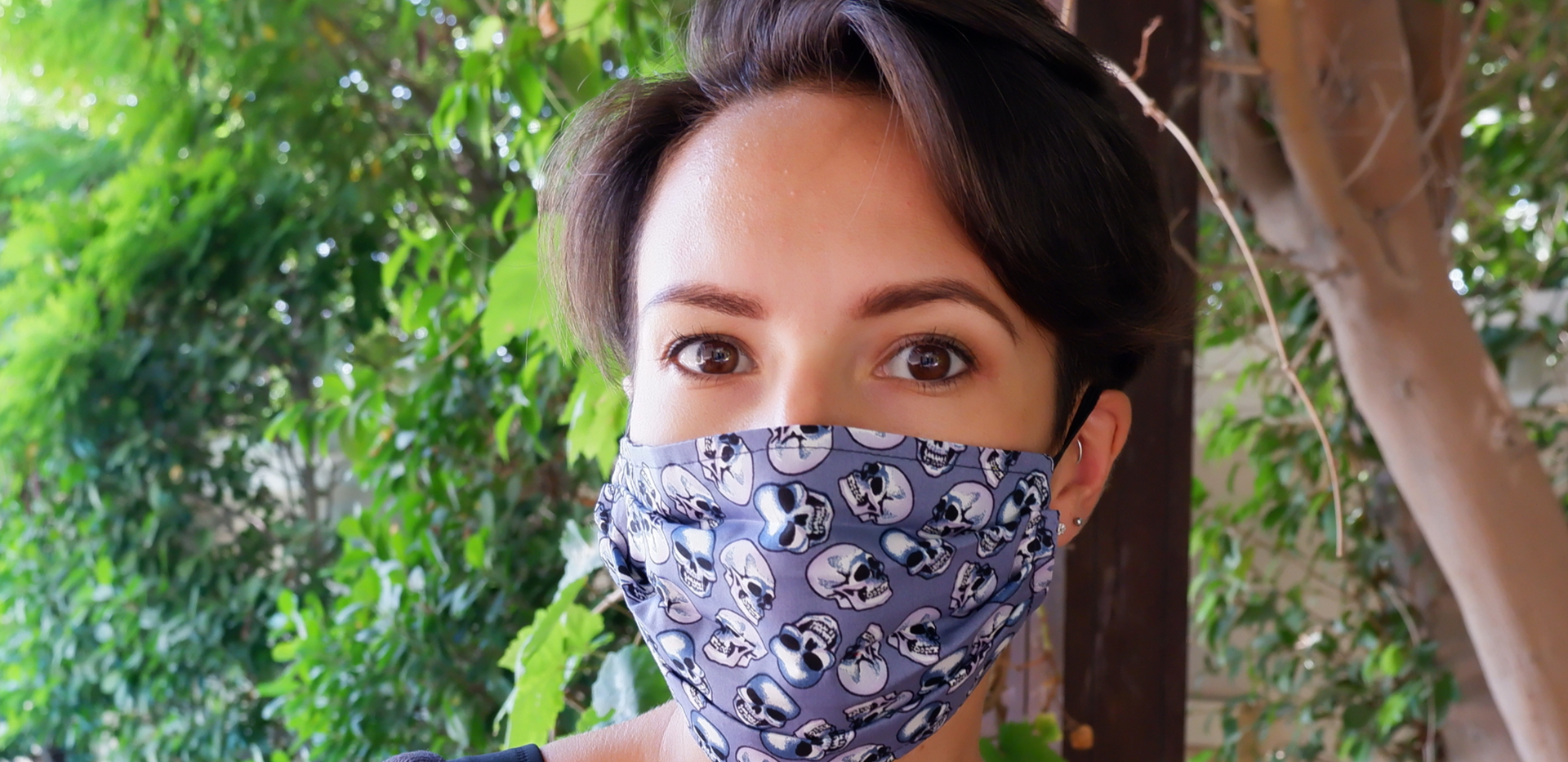 Skull Fabric Face Cover