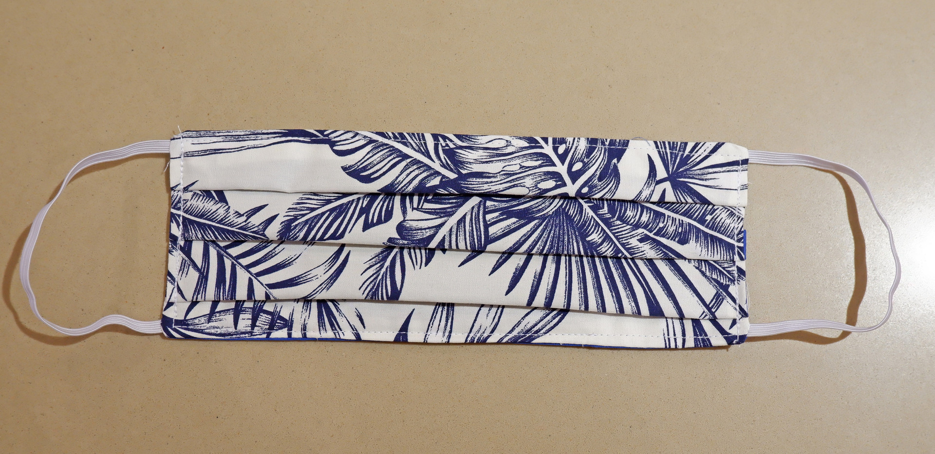 Tropical Leaf Fabric Mask