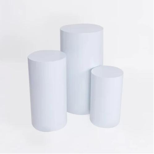 Round Plinth - White