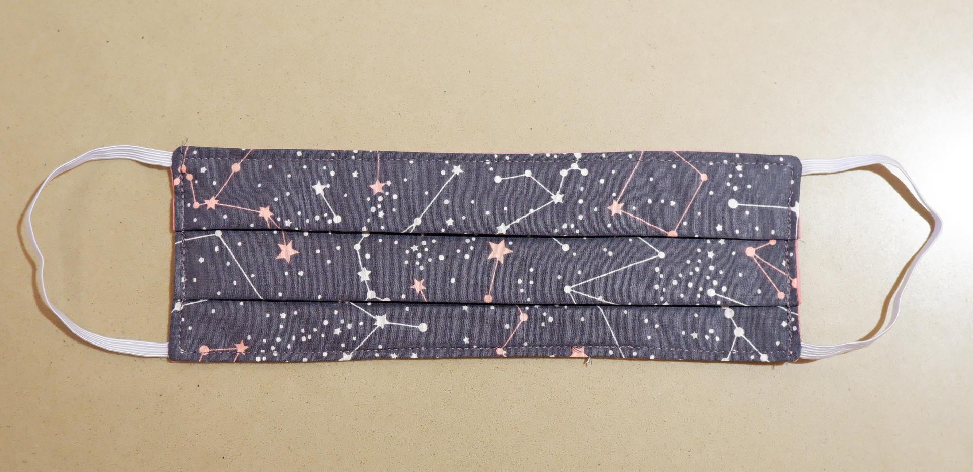 Pink galaxy fabric mask