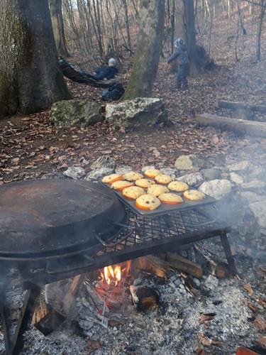 selbstgemachte Orange-Muffins