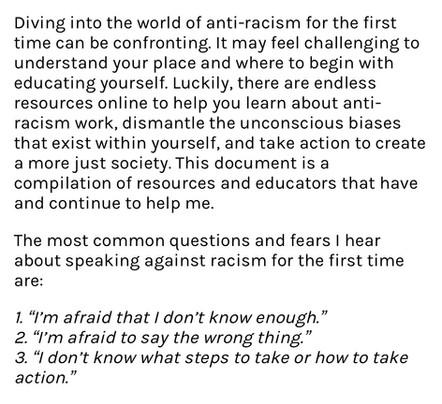 Anti-Racism Resources