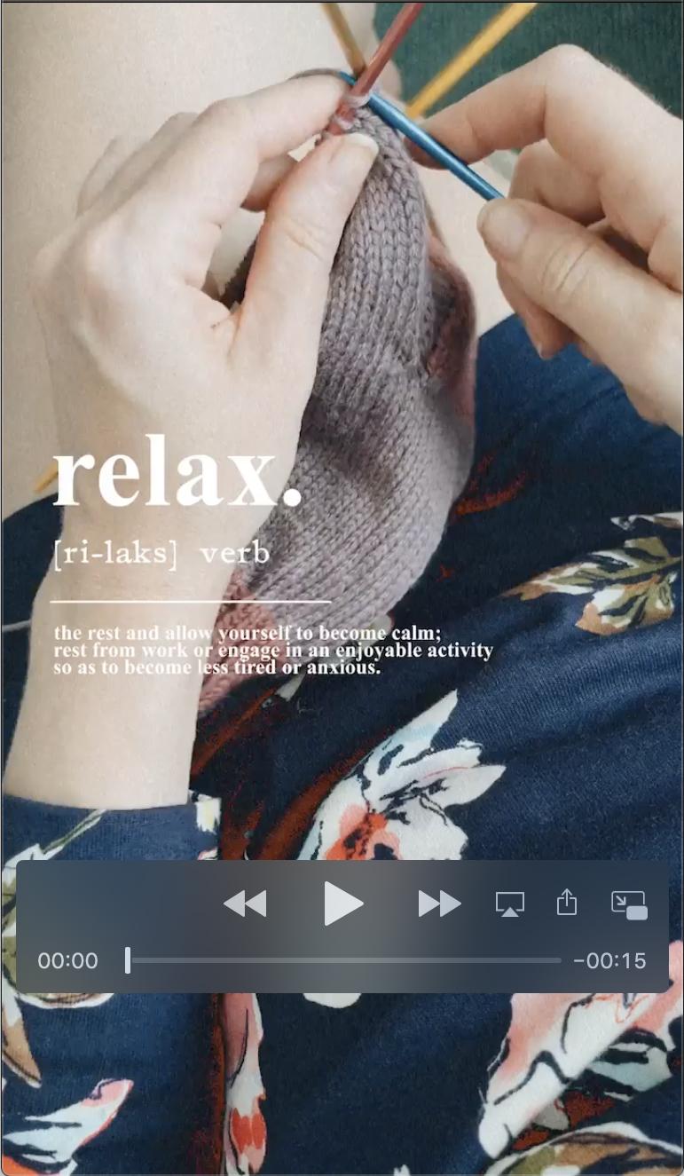 Relax reels Amanda ourofino instagram