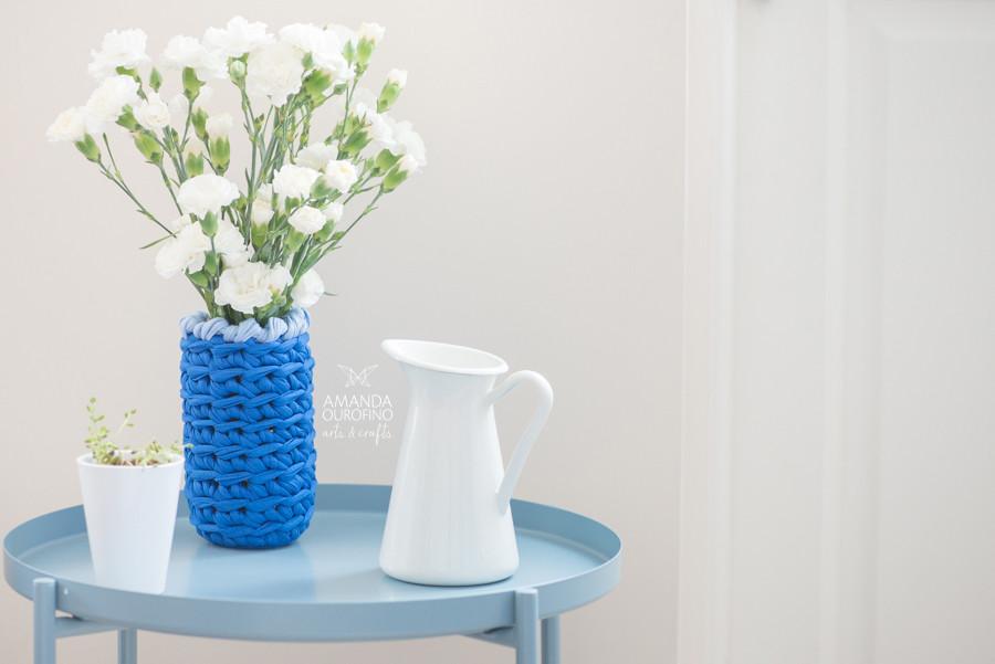 Vaso de Flores em crochê